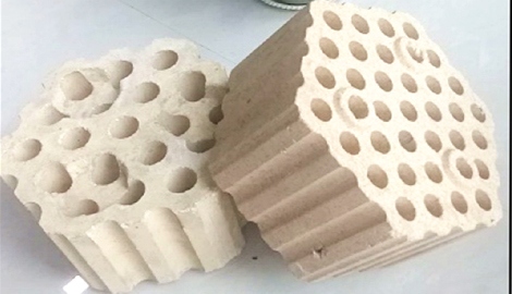 multi-holes refractory checker brick